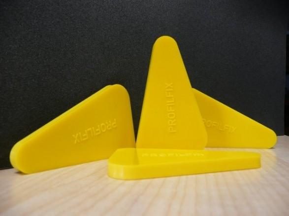 PROFIL-FIX Glättwerkzeug Gelb 3in1