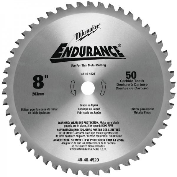 Milwaukee Endurance 203mm 50Zahn Sägeblatt